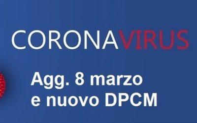 Il DPCM 8.3.2020: Misure Urgenti di contenimento del contagio da Coronavirus