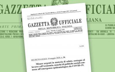 DECRETO RILANCIO N.34/2020 – Le nuove misure per il lavoro in emergenza da Covid-19
